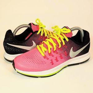 Nike Zoom Pegasus 33 GS Hyper Pink Black Pre-Owned